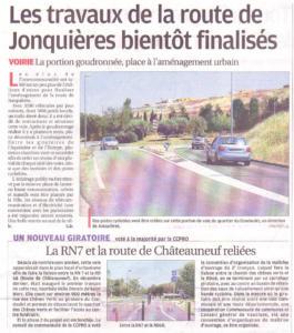 Travaux Route de Jonquières