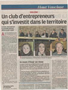 Bollene : club entrepreneur 30nov2015