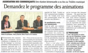 Programmes des animations