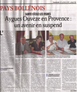 Aygues ouveze en provence