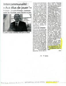 Intercommunalité : Aux élus de jouer !