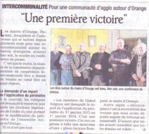 Victoire intercommunalité