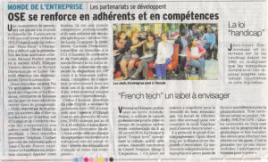 OSE se renforce en adherents et en competences 2dec2015