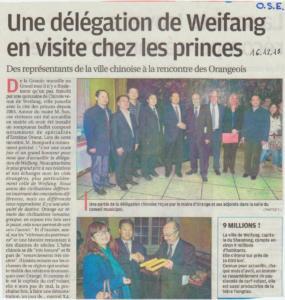 Ose Delegation chinoise - décembre 2013