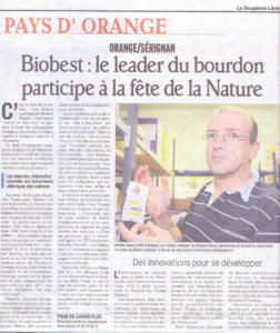 Biobest participe à la fête de la Nature