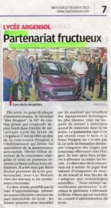 Partenariat Peugeot