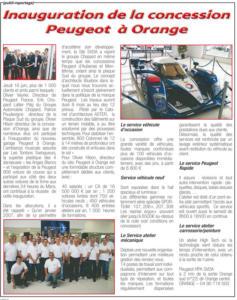 Inauguration Concession Peugeot