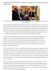13 fev 2016 Formations aux metiers du numérique à Avignon