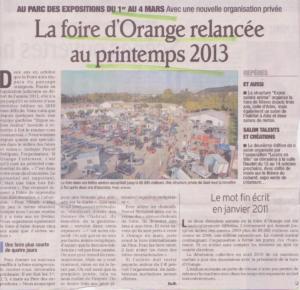 Foire d'Orange